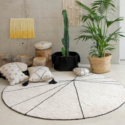Tapis TRACE Beige rond...