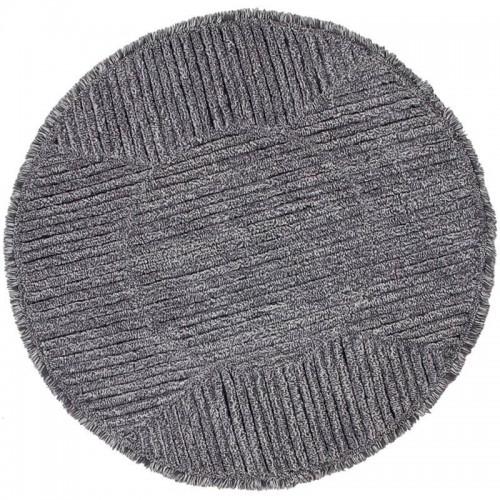 Tapis laine rond BLACK TEA