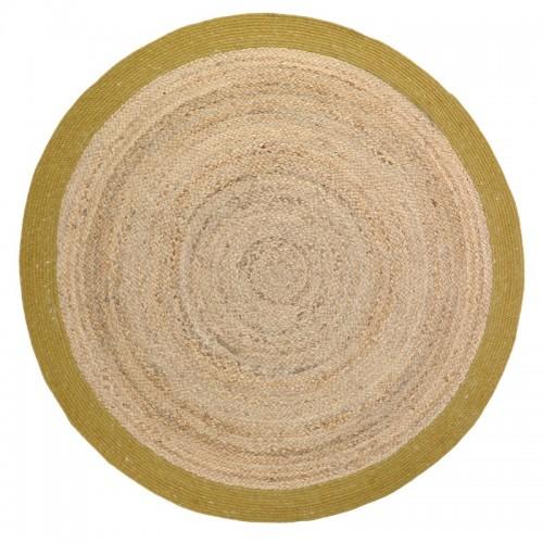 Tapis rond en jute et laine...
