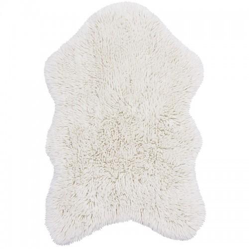 Tapis laine forme peau de...