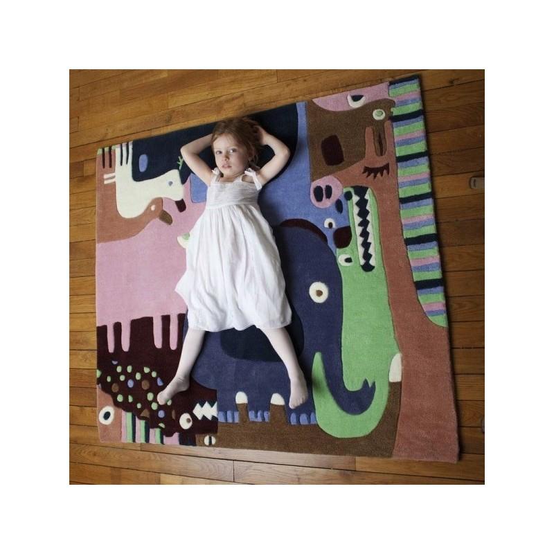 Tapis b b puzzle animaux 2 rectangle chambre fille par art for kids - Tapis puzzle bebe ikea ...