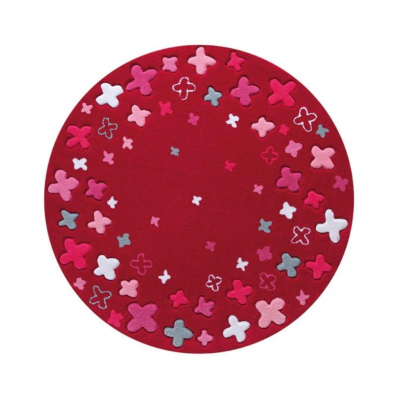 tapis bloom field rouge chambre b b fille par esprit home. Black Bedroom Furniture Sets. Home Design Ideas