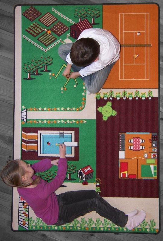 tapis de jeu le jardin rectangle polyester chambre enfant par tapitom. Black Bedroom Furniture Sets. Home Design Ideas