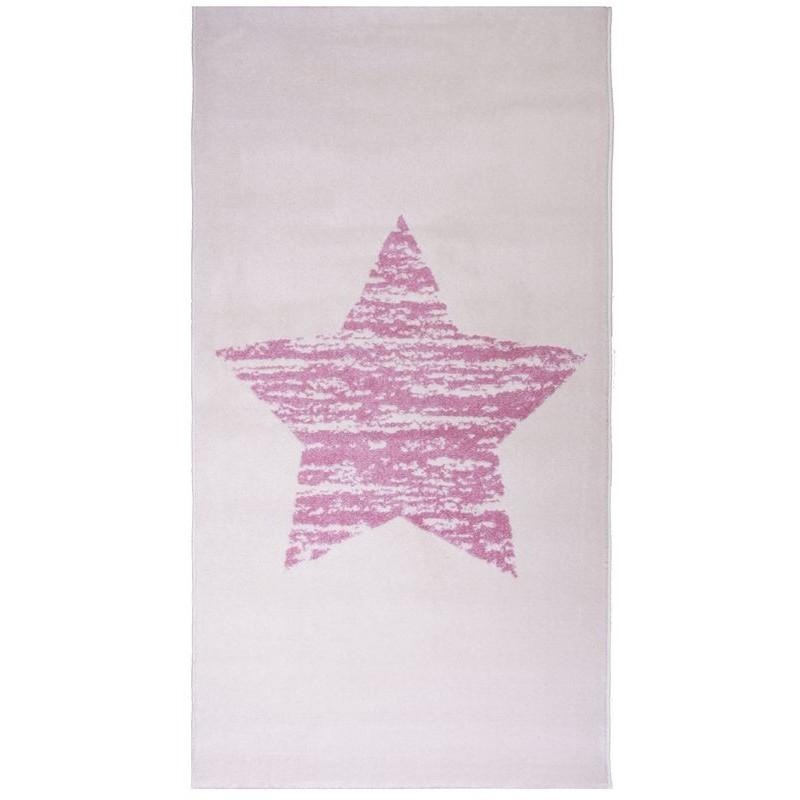 Tapis lucero etoile rose pour chambre enfant fille par nattiot - Toile pour chambre bebe ...