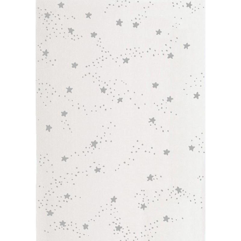 Tapis constellation d 39 etoiles gris chambre enfant par art - Tapis etoile gris ...
