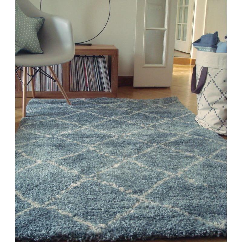 tapis nomade bleu shaggy chambre enfant par art for kids. Black Bedroom Furniture Sets. Home Design Ideas