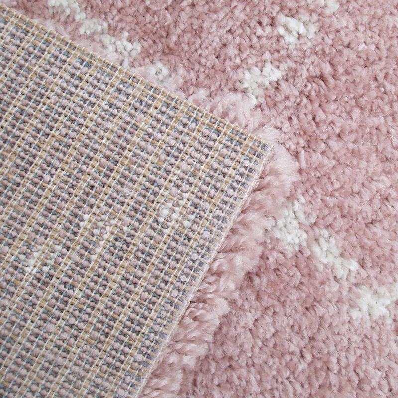 Tapis Nomade Rose Shaggy rectangle pour chambre fille par Art For Kids