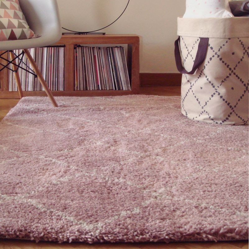Tapis nomade rose shaggy rectangle pour chambre fille par art for kids - Tapis chambre fille ikea ...