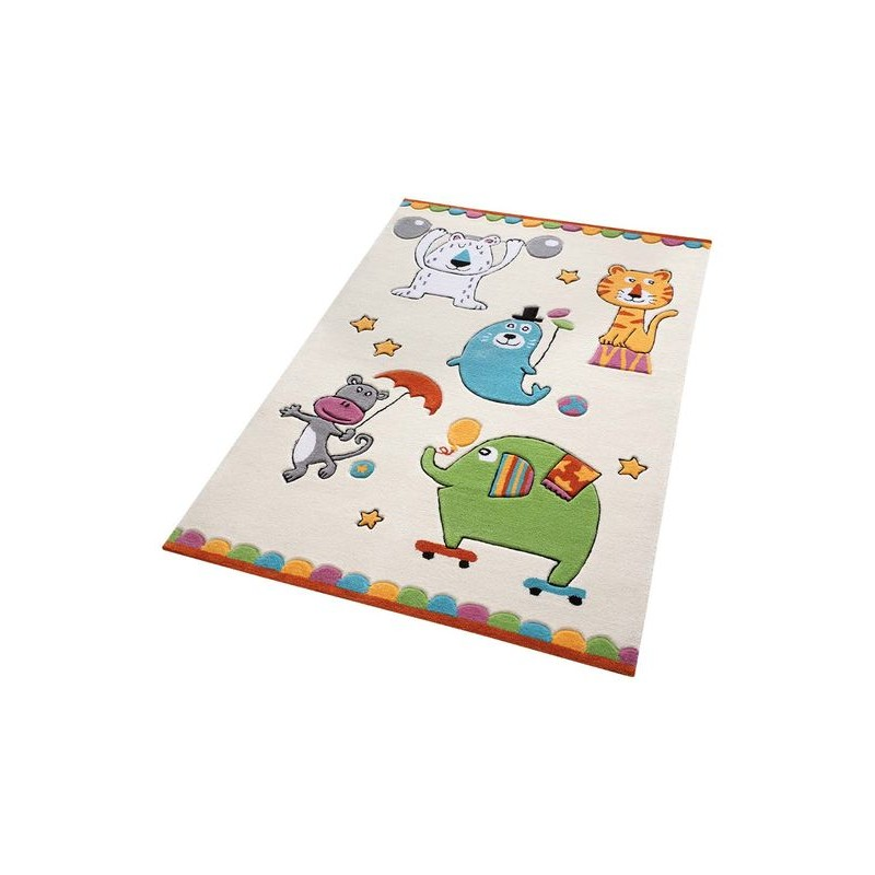 tapis animaux du cirque chambre gar on par smart kids. Black Bedroom Furniture Sets. Home Design Ideas