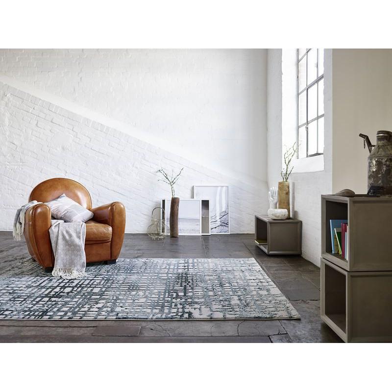 tapis velvet grid bleu p trole rectangle par esprit home. Black Bedroom Furniture Sets. Home Design Ideas