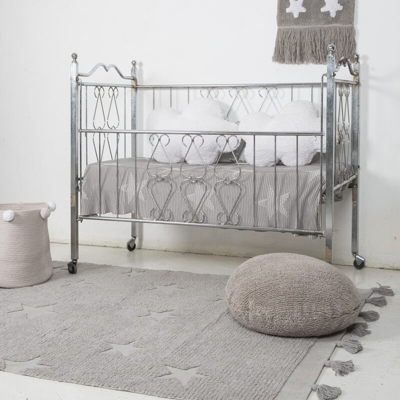 Tapis Lavable HIPPY STARS Gris chambre bebe Lorena Canals