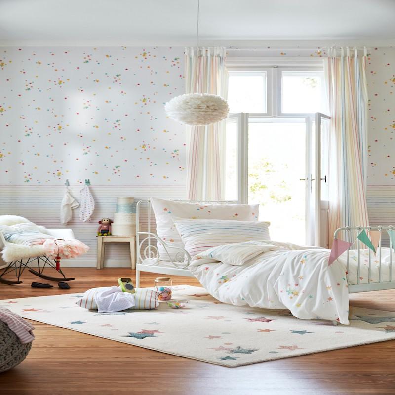 JONNE multicolore pastel fond écru bebe rectangle par Esprit