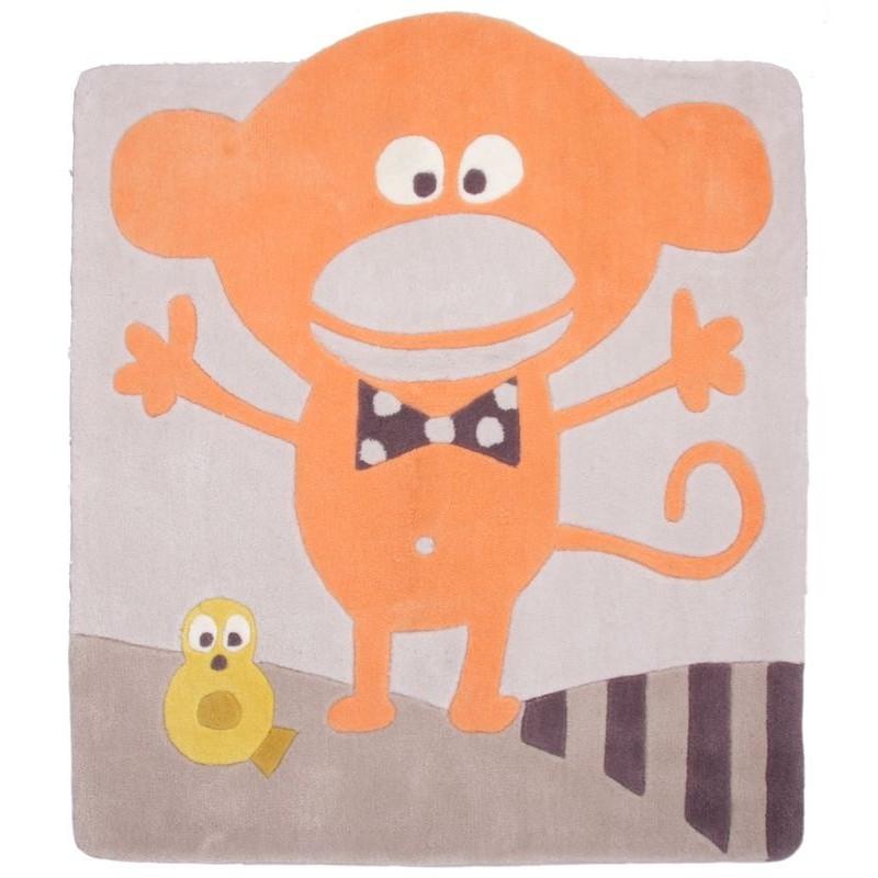 tapis chambre de b b ringo le petit singe par nattiot. Black Bedroom Furniture Sets. Home Design Ideas