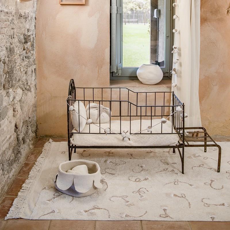 GARDEN Ivory rectangle coton lavable par Lorena Canals
