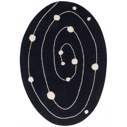 GALAXY ovale en coton noir...