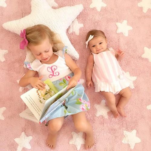 ETOILES Rose et Blanc bebe...