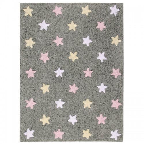 Tapis enfant coton étoiles...