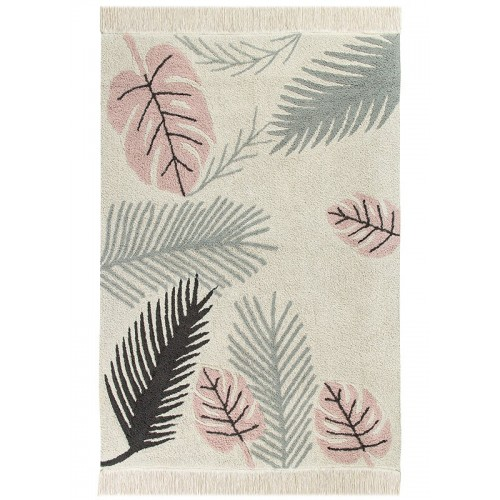 Tapis lavable TROPICAL ROSE...