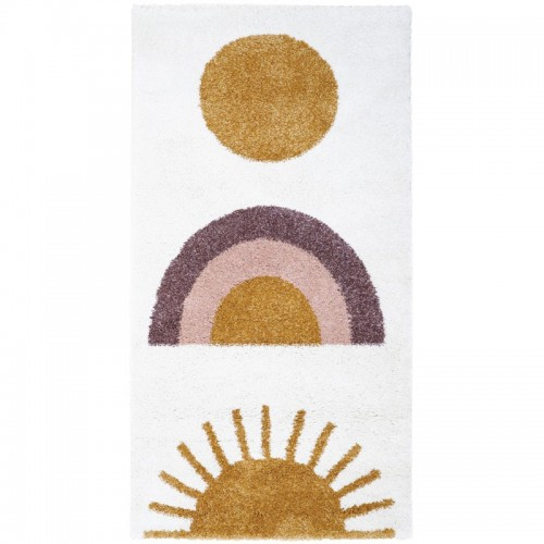 Tapis enfant design arc en...