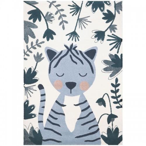 Tapis enfant tigre bleu LINXY