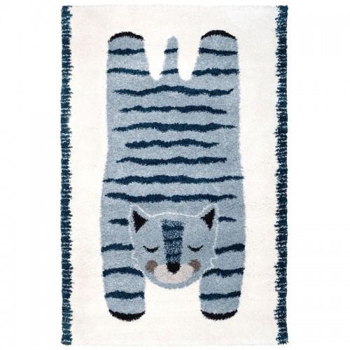 Tapis enfant tigre bleu ELVAR