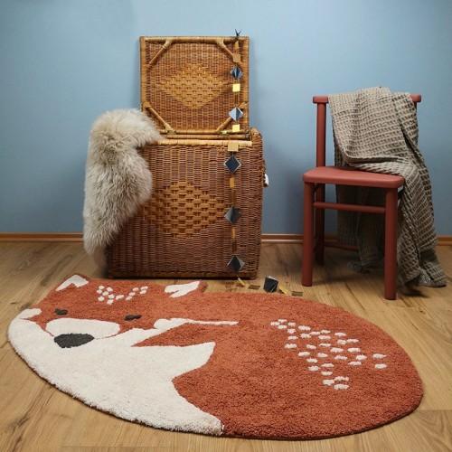 Tapis enfant coton renard...