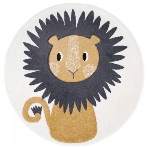 Tapis enfant rond lion JAGGO