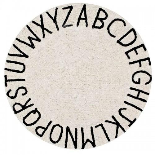 ABC rond  en coton noir et...
