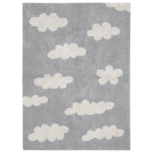 Tapis enfant coton nuages...