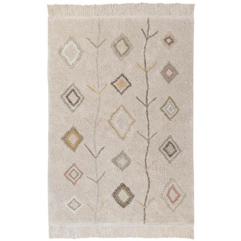 tapis original kaarol earth naturel multi rectangle lavable par lorena canals
