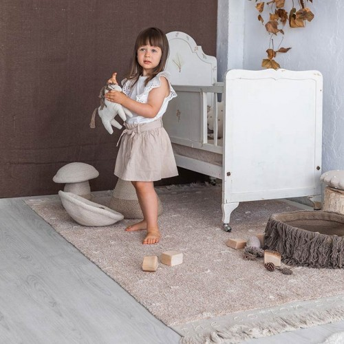 Tapis lavable en coton WOOD...