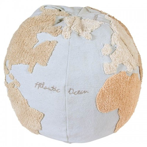 Pouf enfant WORLD MAP coton...
