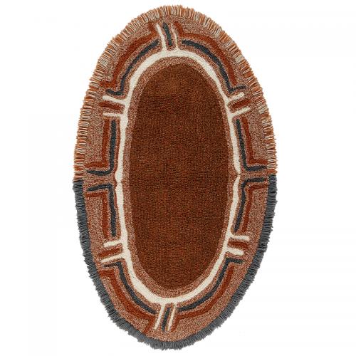 Tapis laine ethnique KARIBU